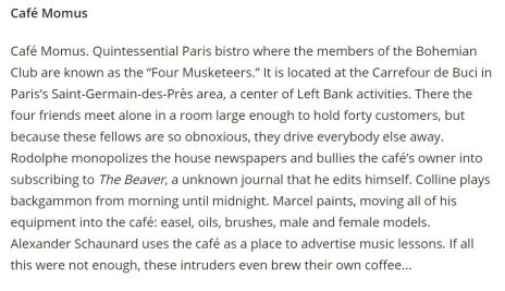 cafe momus info